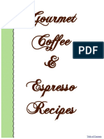 Gourmet Coffee Recipes
