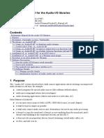 Audio IO Manual