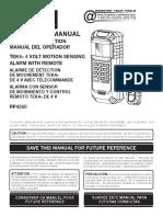 Manual Ryobi Alarm RP4300