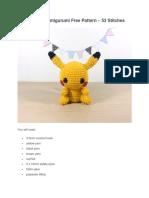 Pikachu Amigurumi Free Pattern