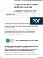 Costa Rica Quiere Limitar Portación de Armas
