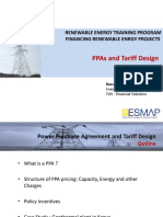 Power Purchase Agreement PPA -- capacity charge + energy charge