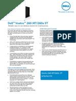 Dell Vostro 260 Spec-sheet