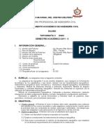 Silabo de Topo II 2011- II