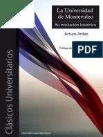 Ardao La Universidad de Mdeo Su Evolucion Historica
