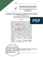 Fundamentos psicométricos en la Evaluacion