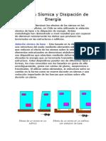 Aislación Sísmica y Disipación de Energía u Chile