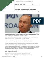 Maria Butina_ Putin 'Outraged' at Sentencing of Russian Spy - BBC News