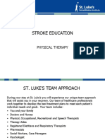 Stroke Educ - Physical Therapy