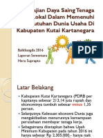 Kajian Daya Saing Tenaga Kerja Lokal Kabupaten Kutai Kartanegara