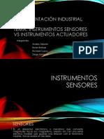 Instrumentos Sensor vs Instrumentos Actuadores