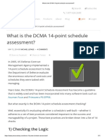 What is the DCMA 14-Point Schedule Assessment