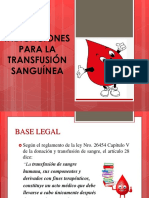 Indicaciones de Transfusion