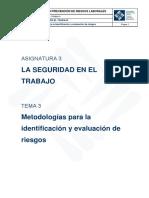 Asignatura 3.3 Metodologías para la identificacion y evaluacion de riesgos.pdf