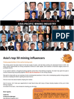 Top 50 Influential Individuals in Asia Pacific Mining Industry