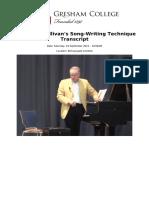 Part One Sullivans Song Writing Technique