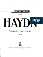 Haydn - Sinfonie Concertante Op 84 for Oboe, Violin, Cello & Bassoon - Solo Parts With Piano Reduction