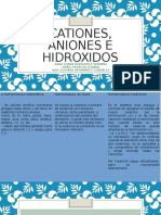 cationes, aniones e hidoxidos