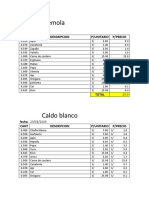 Costos de Sopa Para Imprimir