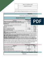 Chek List Parametros de Calidad Productos