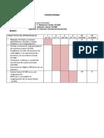 Cronograma Matemática I 3 2017