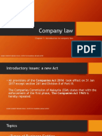 L1 Company Law Introduction