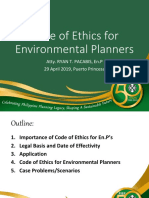 Code of Ethics for Environmental Planners under RA 10587