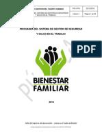 Ejemplo Salud Ocupaconal Bienestar de Familia