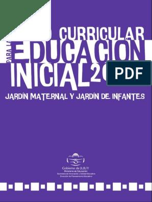 Diseño Curricular Para Nivel Inicial Pdf Educación De La