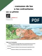 Fallas de Las Estructuras de La Presa