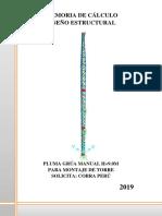 Memoria Calculo Estructural Pluma Grua Manual 9m