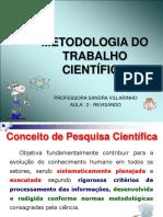 Metodologia - Aula 2 Revisão