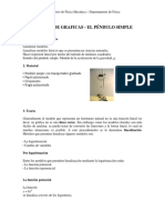 Analisis de Graficas -El Pendulo Simple