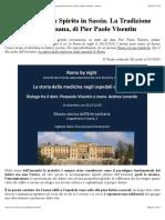 L'Ospedale Santo Spirito in Sassia. La Tradizione Assistenziale Romana, Di Pier Paolo Visentin - Diario