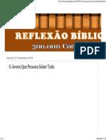 REFLEXÃO BÍBLICA_ O Jovem Que Pensava Saber Tudo