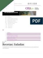 Recetas Saladas - Cocina Para Celiacos -