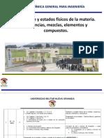 Definición, Clasificación y Estados Físicos de La Materia