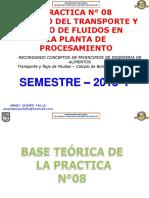 PRACTICA 08 - TRANSPORTE DE FLUIDOS PARA EL DISEÑO DE PLANTAS - AQT - UNASAM - 2018 - I.pdf