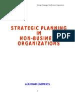 Strategic Planning in Non Profit Organizations