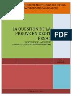 Barreau La Question de La Preuve, Assassinat Du Professeur Mboma, Notes de Plaidoirie (1)