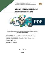 ESTRÁTEGIAS INTELIGENTES DE COMUNICACIÓN INTERNA Y GESTIÓN EMPRESARIAL