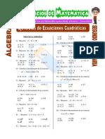 Ecuaciones Cuadráticas - Álgebra