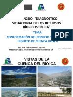 Conformacion Del Consejo de Recursos Hidricos Cuenca Rio Ica Jp