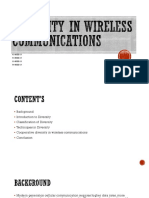 Diversity in Wireless Communications