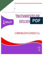 Tratamiento de Efluentes Corporacion Lindley s.a.