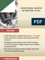Intrauterine Growth Restriction (Iugr)