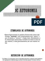 Presenta-tipo de Autonomia