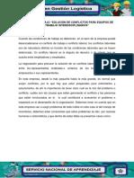 """Evidencia 7.  Agenda de trabajo """"Solución de conflictos para equipos de trabajo interdisciplinarios.docx"""