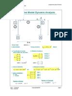 Mathcad - 2019 SDOF Plane Frame Model Dynamic Analysis