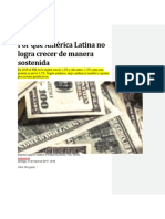 Por Qué América Latina No Logra Crecer de Manera Sostenida